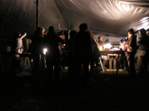 Nighttime on the Farm & Dinner is Served; Grab the Fiddle - Contra Dancing is Next!