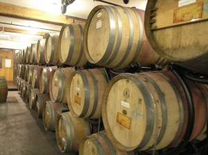 Custom barrels of wine--awaiting their time--from City Winery